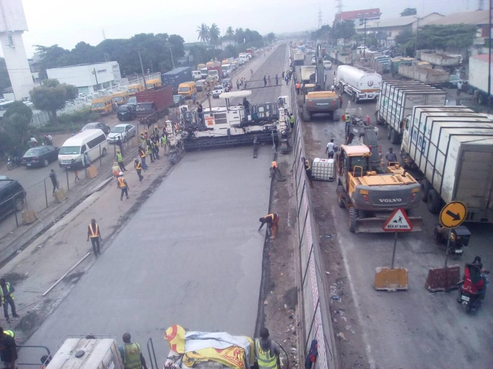 See The New Apapa-Oshodi Expressway As Construction Works Continue - Photos