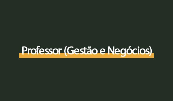 Prova Concurso Professor (Gestão e Negócios) com Gabarito