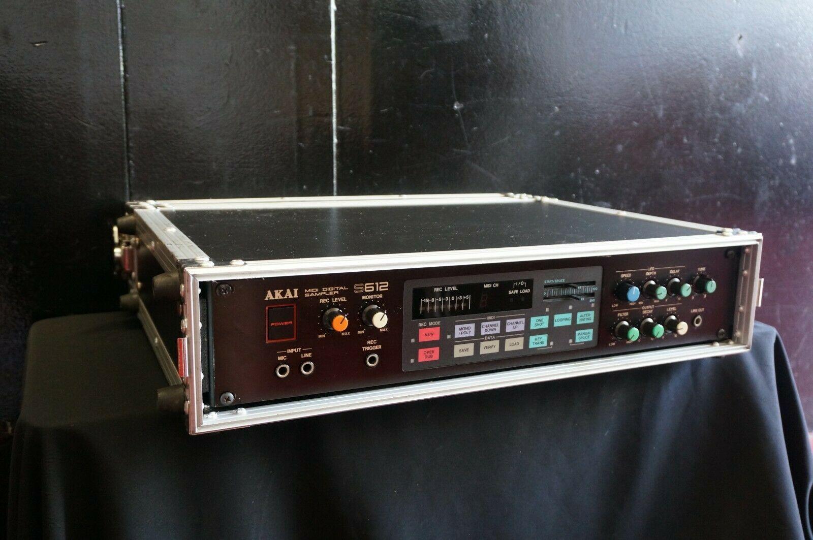 MATRIXSYNTH: Akai S612 Vintage 80's 12-bit MIDI Lo-Fi 2U Rack