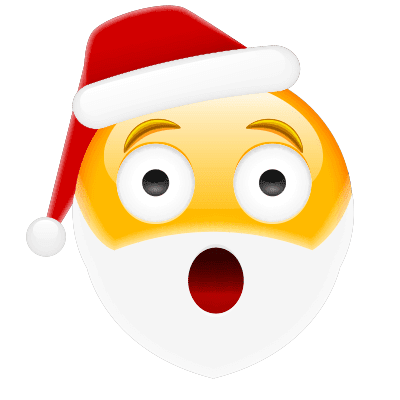 Surprised Santa Emoji