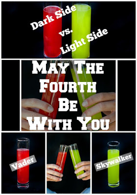 Star Wars Cocktails that are perfect for May The Fourth Be With You celebrations.  Choose the Vader or the Skywalker