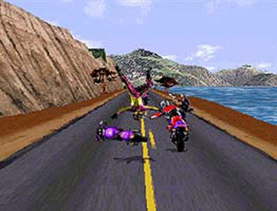 Road rash gameplay (pc game, 1994) youtube.
