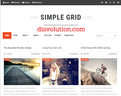 Template Terbaru 2017 Simple Grid Seo Responsive Download Gratis