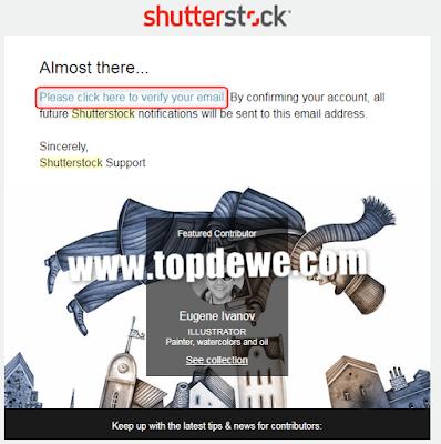Cara mendaftar contributor shutterstock