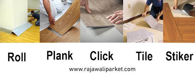 Lantai kayu sintetis Tipe 2 vinyl Flooring