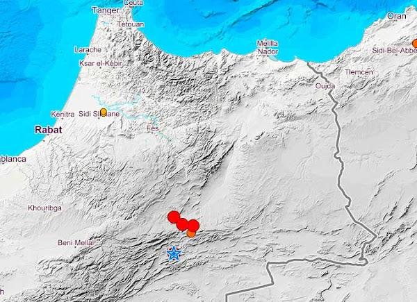 Terremotos en  Midelt, Marruecos, noviembre 2019