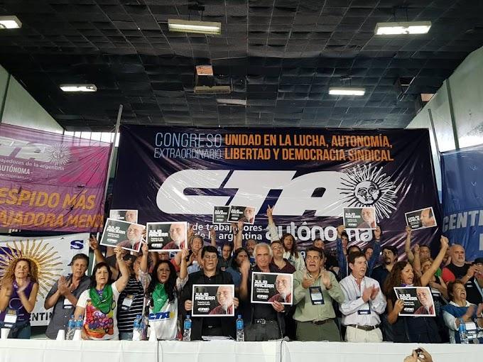 Declaración del congreso extraordinario de la CTA Autónoma