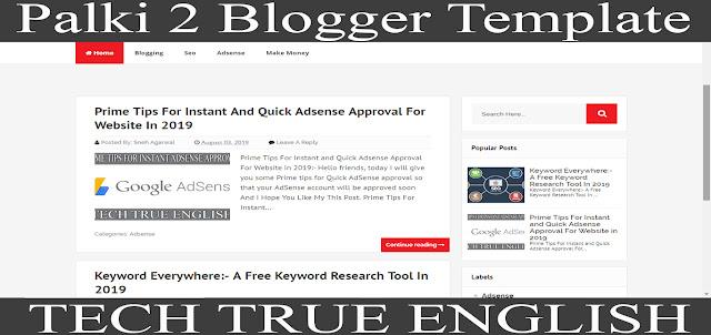 Palki 2:- Responsive Blogger Template