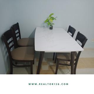 bàn ăn chung cư an viên 1 phòng ngủ khu nam long