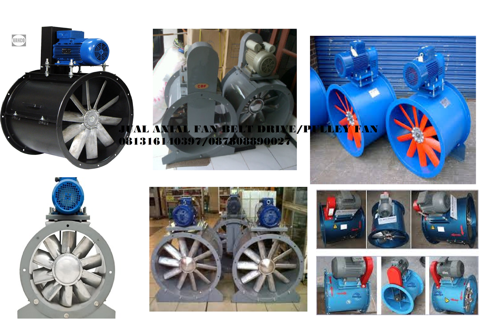 AXIAL FAN BLOWER PULLEY ~ JUAL BLOWER