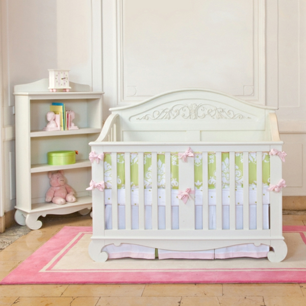 Cuarto De BebÉ En Rosa Y Blanco: Habitaciones Con Estilo: CUARTOS DE BEBÉ EN ROSA Y VERDE