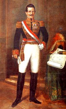 Ilustración de Ramón Castilla con espada