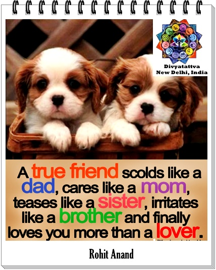 Best Friendship Quotes, Friends Quotations, Friendship Day Sayings, True Friend  Quote By Rohit Anand At Divyatattva.