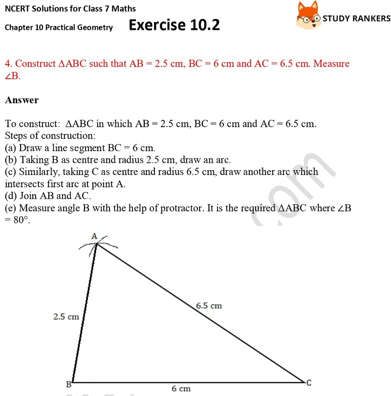 NCERT Solutions for Class 7 Maths Ch 10 Practical Geometry Exercise 10.2 3