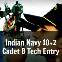 Indian Navy 10+2 Cadet B Tech Entry July 2014 Notification