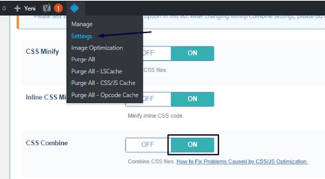 Web Sitesi Css Dosya Birleştirme