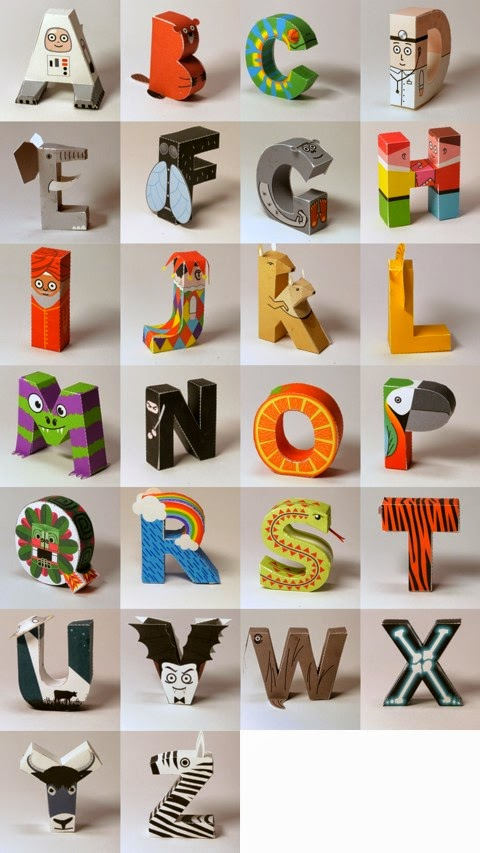 Lettere tridimensionali da costruire