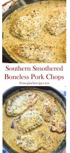 Southern Smothered Boneless Pork Chops