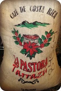 tapizados con sacos de cafe