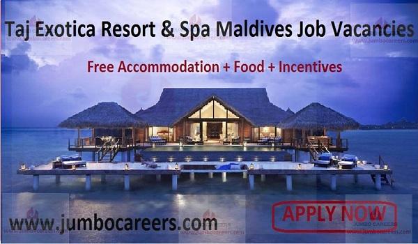 Job Opportunities at Taj Exotica Resort & Spa Maldives,