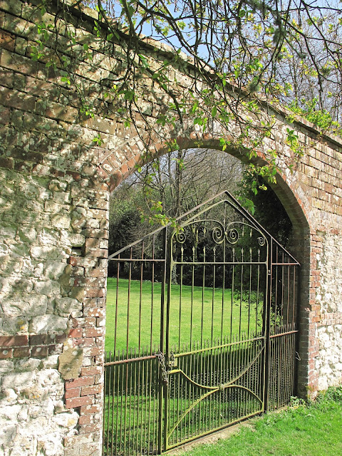 A mysterious gate in Edward Austen's walled garden