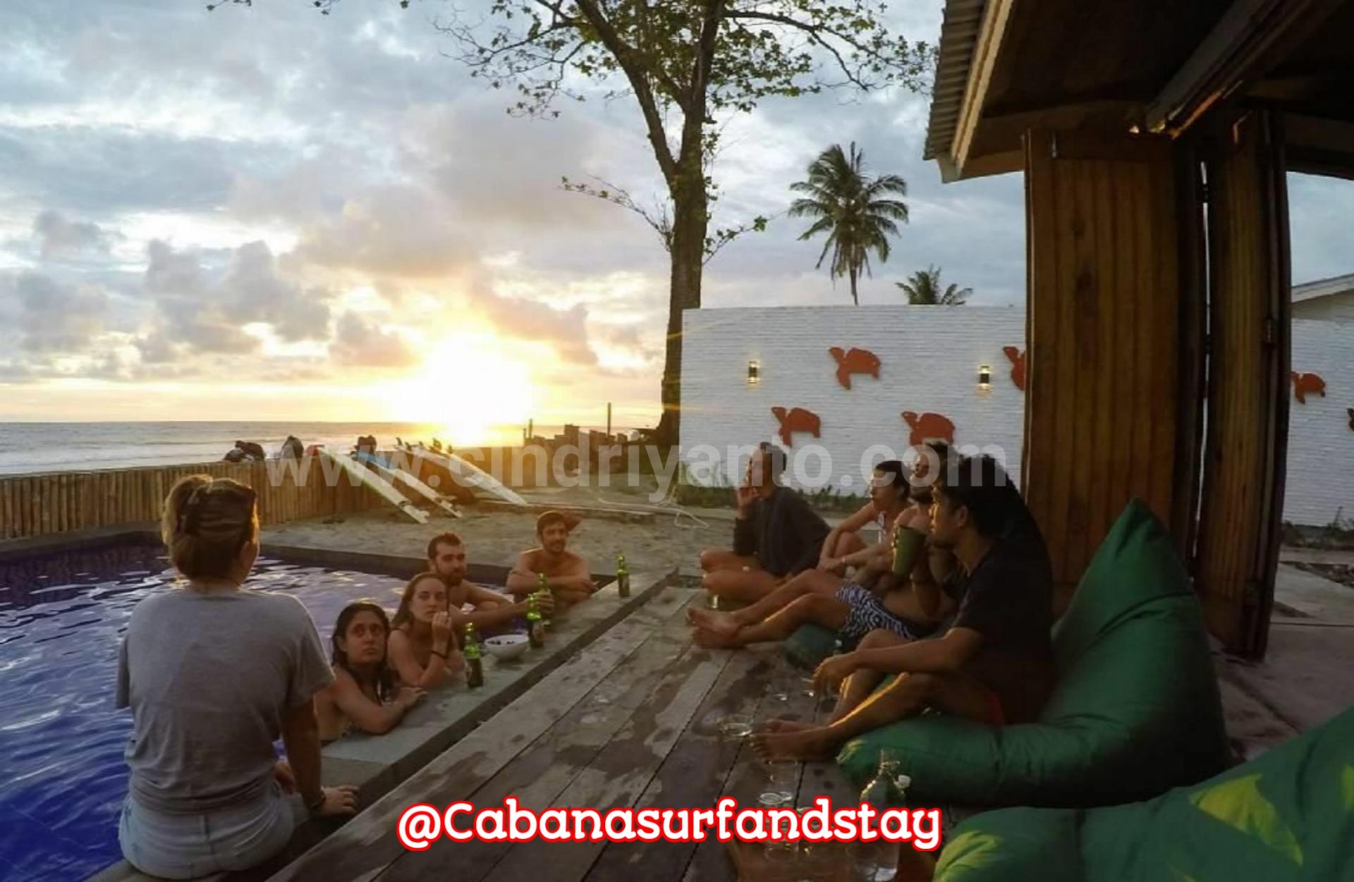 Tempat penginapan di pesisir barat krui Cabana Surf And Stay