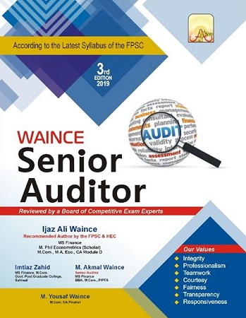 Senior Auditor Job Test Preparation Book for NTS, PPS, FPSC