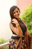 Lasya looks super cute in black choli Saree at Raja Meru Keka Press Meet ~  Exclusive 072.JPG