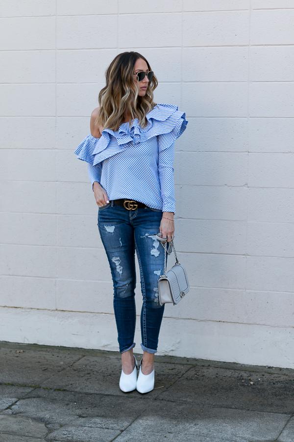 dark ripped jeans distressed denim