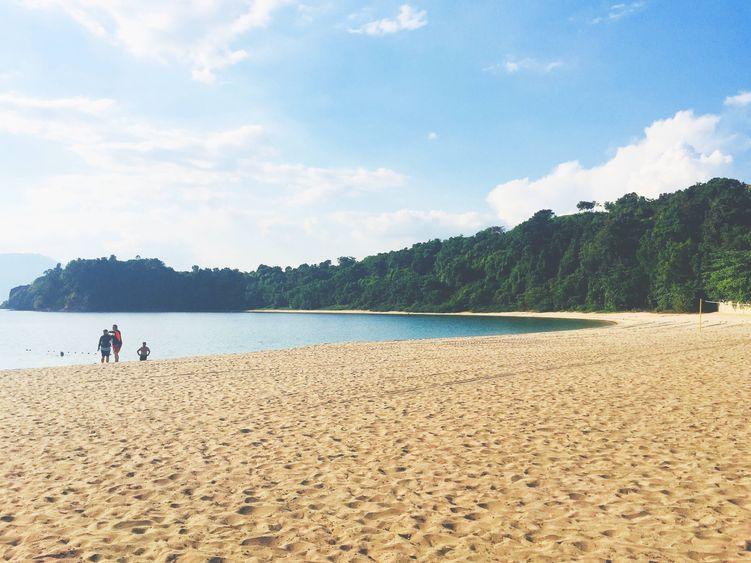 The beach at Anvaya Cove