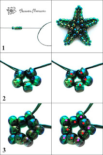 Part 2 Free beading pattern and tutorial for raspberry or blackberry stems