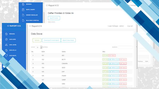 Aplikasi Web Rapor dan Nilai Siswa K13