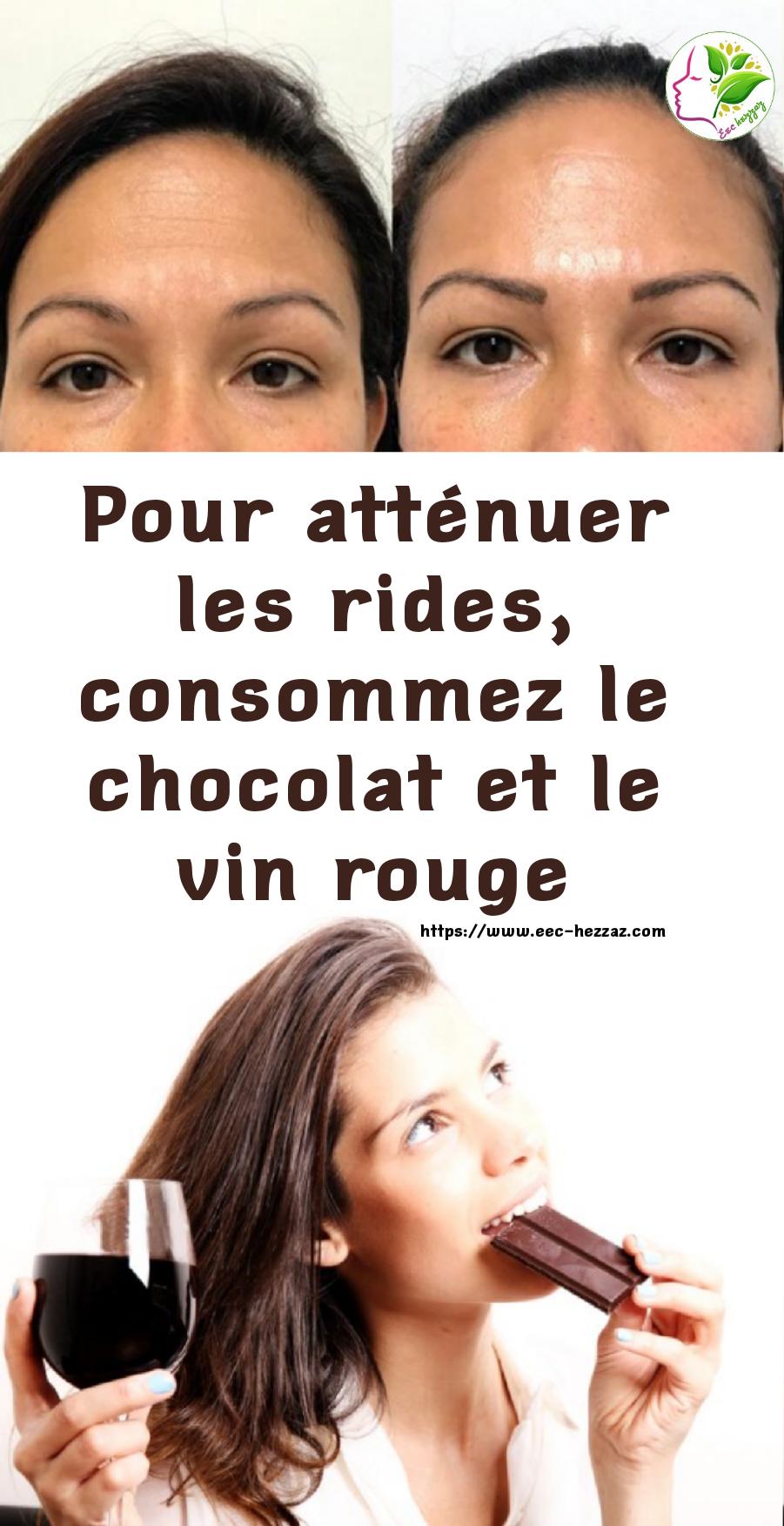 Pour atténuer les rides, consommez le chocolat et le vin rouge