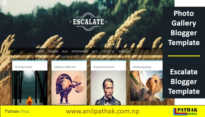Photo Gallery Blogger Template - Escalate Blogger Template