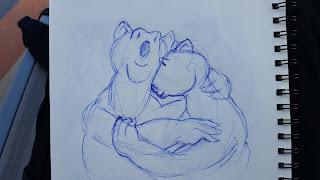 Cartoon Polar Bear sketch by TET