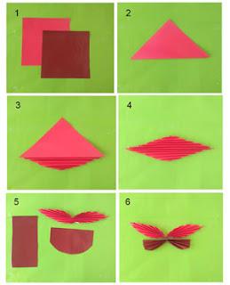 Tutorial membuat hiasan dinding kupu-kupu dari kertas