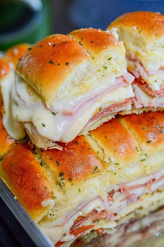 easy hawaiian ham and cheese sliders recipe