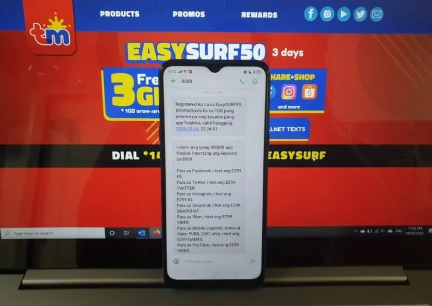 TM EasySurf99 Now With Only 3.3GB Data (Previously 19GB) Valid for 15 Days for Only Php99