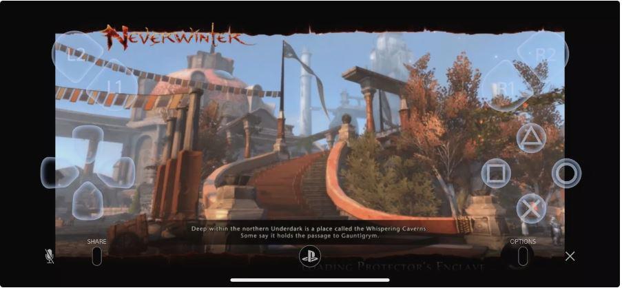PS4 Remote Play على جهاز iPhone الخاص بك.
