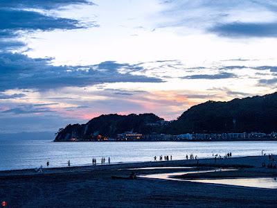 The blue of summer sky: Yuigahama-beach (Kamakura) 