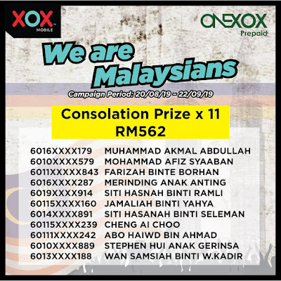 Onexox winners for We Are Malaysians Campaign