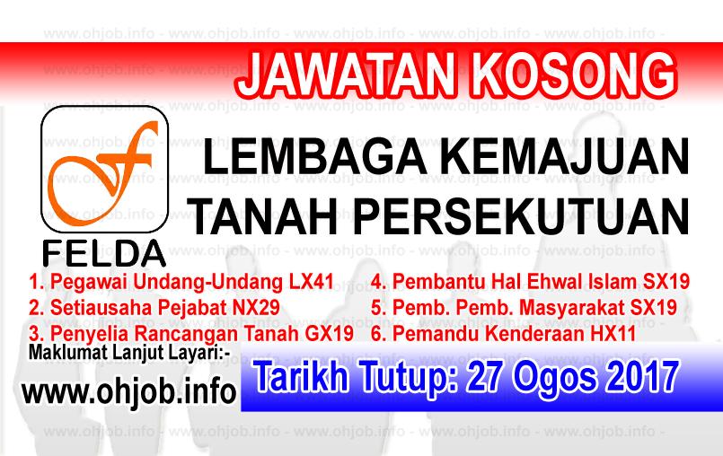 Jawatan Kerja Kosong Lembaga Kemajuan Tanah Persekutuan - FELDA logo www.ohjob.info ogos 2017