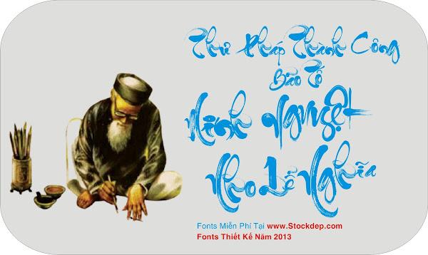 Download fonts thư Pháp Thành Công Miễn Phí bản quyền
