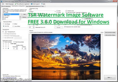 TSR Watermark Image Software FREE 3.6.0 Download for Windows