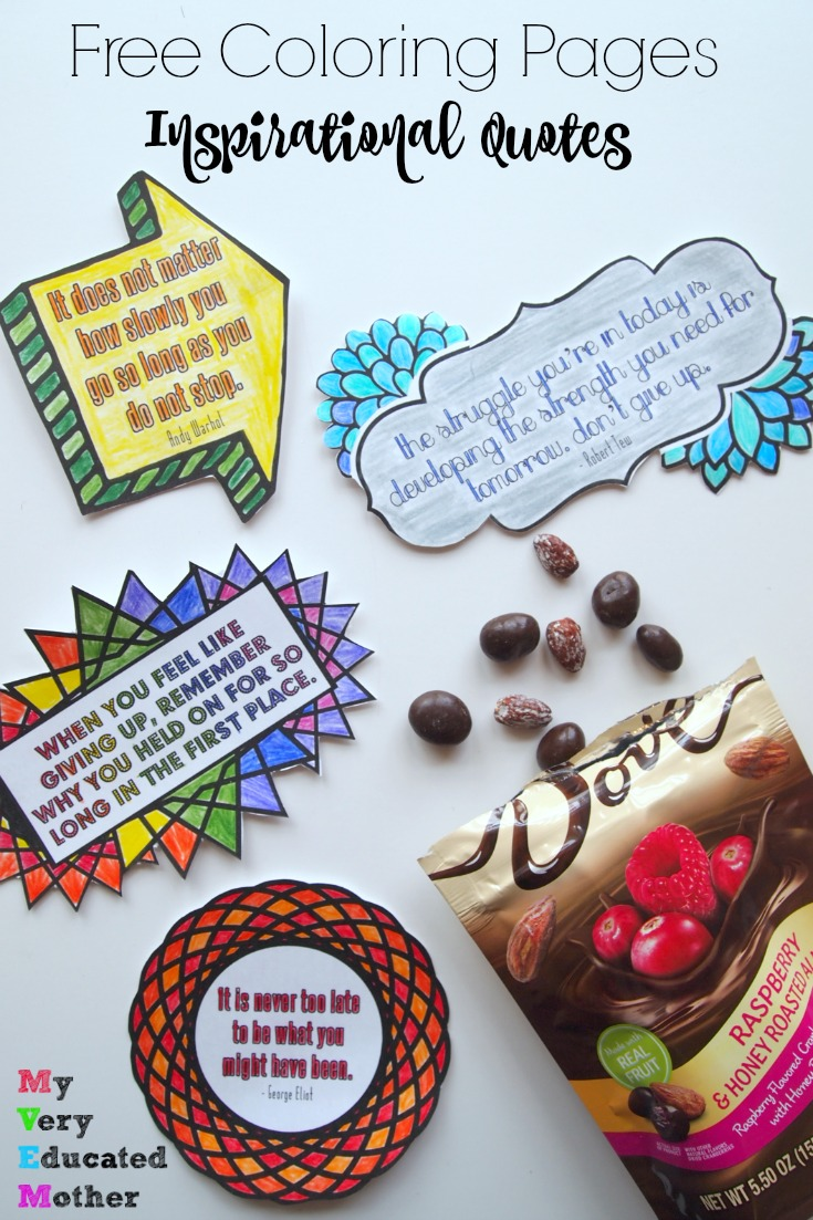 Great Inspirational Quotes to print, color, cut out, and keep you motivated! #ad #LoveDoveFruits