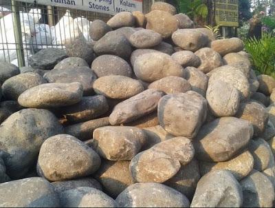 cara Menata Batu besar di taman