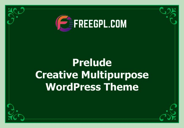 Prelude - Creative Multipurpose WordPress Theme Nulled Download Free