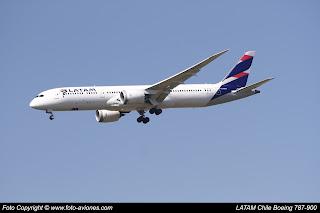 Avión Boeing 787 CC-BGA