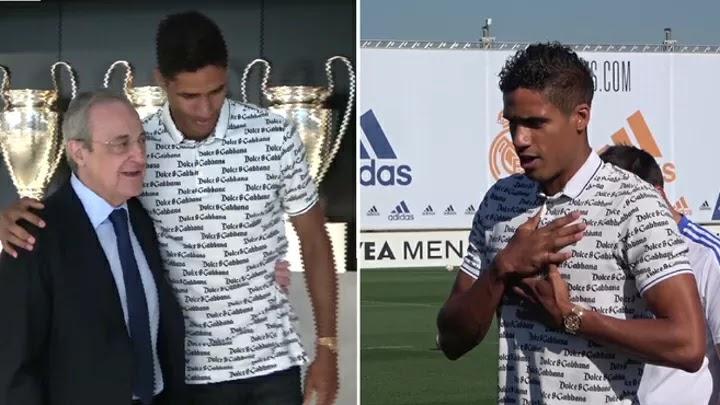 Varane bids farewell in tears: His speech and Florentino Perez's hug