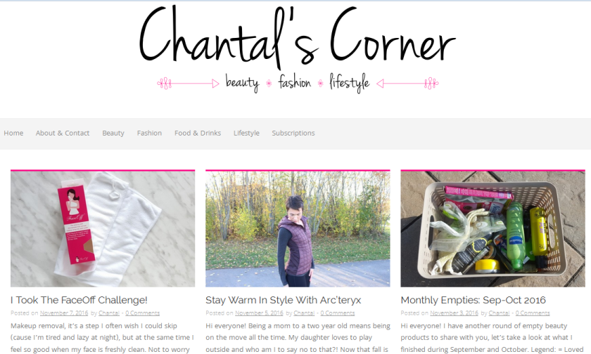 bbloggers, bbloggersca, canadian beauty bloggers, fashion, lifestyle, chantal's corner, featured blogger, blog of the month